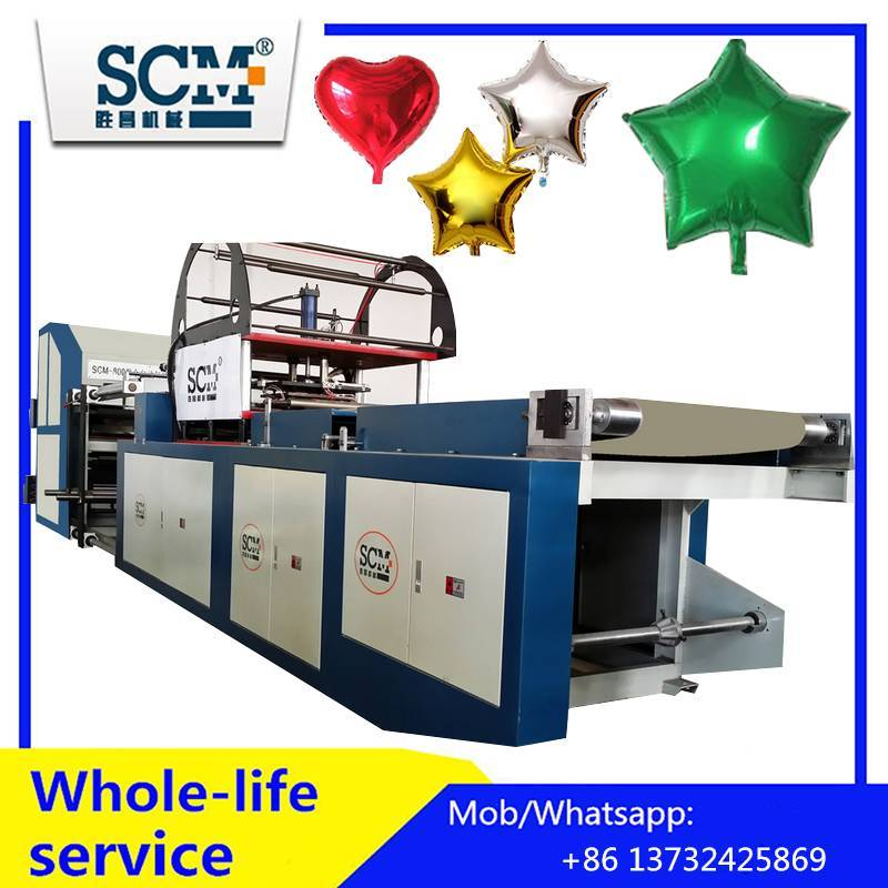 Automatic helium foil balloon making machine