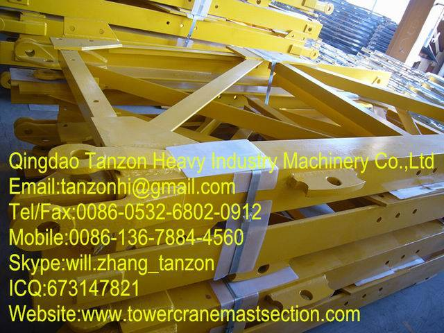 Split Tower Crane Mast Section / tower crane spare parts F0/23B(L46A1) mast