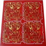 4 Layer PCB board with gold connector from Agile Circuit Co., Ltd