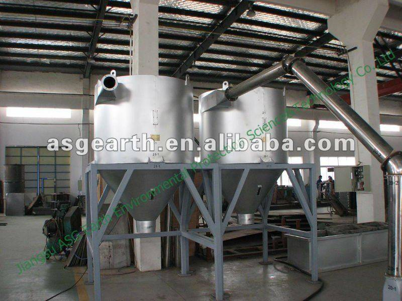 Plastic recycle machine for PE film