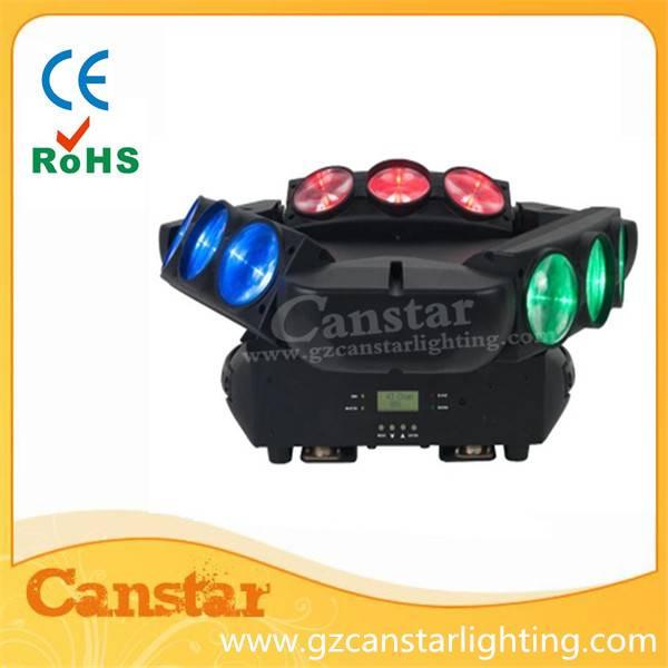 9pcs led beam moving head light spider RGB