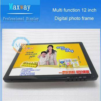 Music video picture playback functions 12'' digital photo frame
