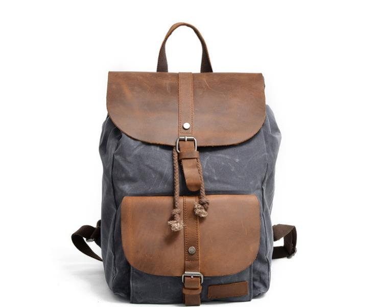 luxury canvas backpack