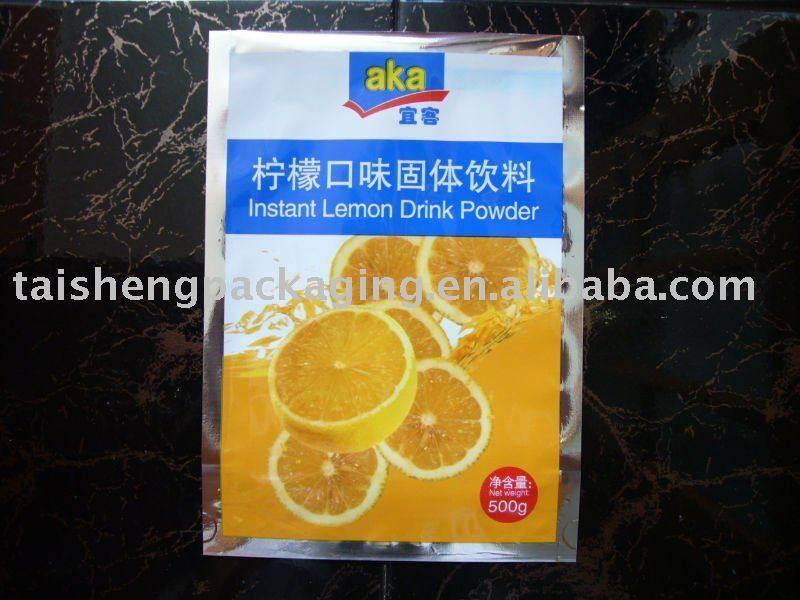 Aluminum Coating Plastic Food Grade Bags 025 / Heat Seal Food bag