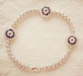 925 silver evil eye bracelet