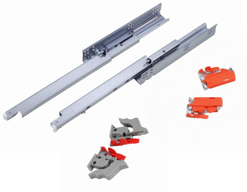 full extension concealed soft close drawer slide with clips