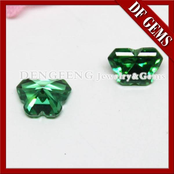 cheap butterfly shaped green cubic zirconia diamond