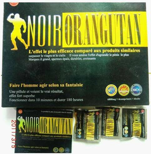 Sex Pills for Men -French Version Noir Orangutan