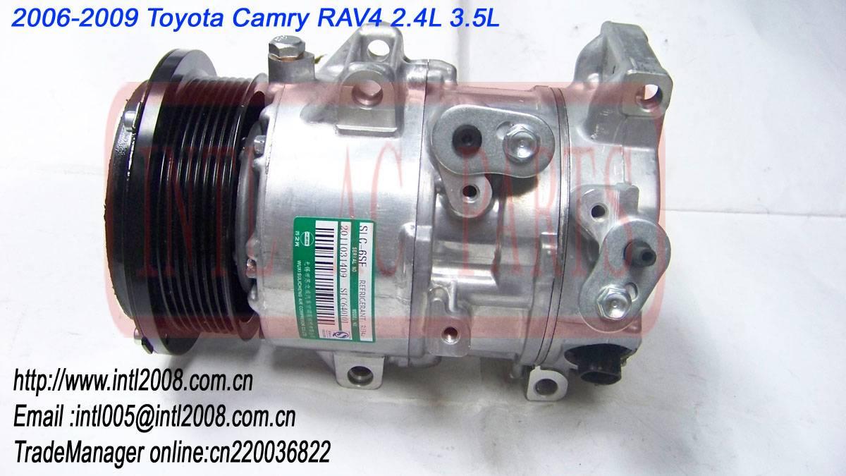 6SEU16C PV7 Compressor for 2006 2007 2008 2009 Toyota Camry RAV4 2.4L 3.5L