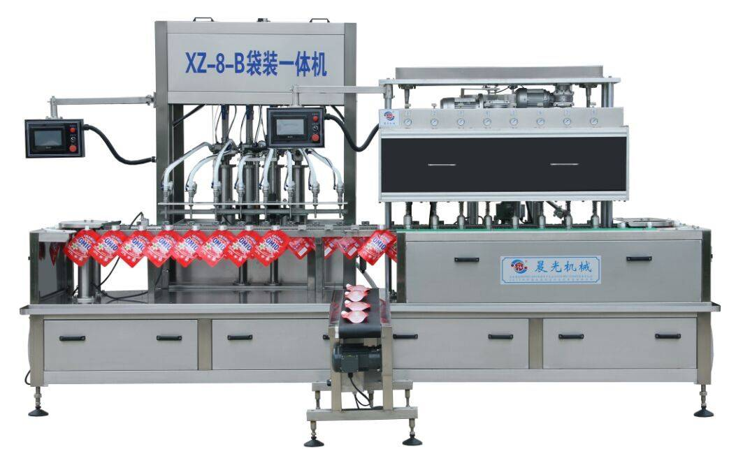 XZ-8-B Automatic Bag Filling and capping machine