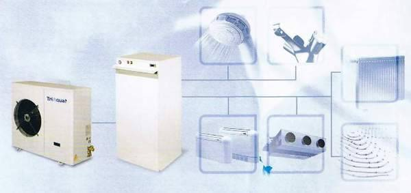 water source heat pump air conditioner and water heater