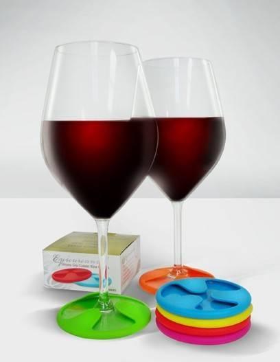 Popular silicone wine glass coaster / mat