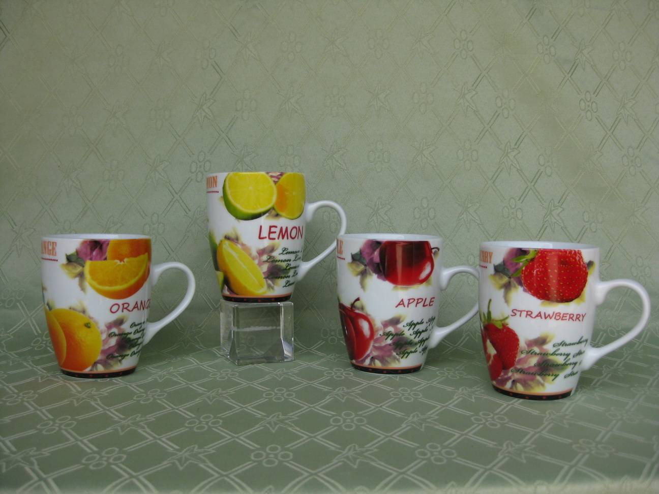 Drum-shaped porcelain mug with full decal printing,SA8000/SMETA Sedex/BRC/ISO/SGP/BSCI Audit Factory