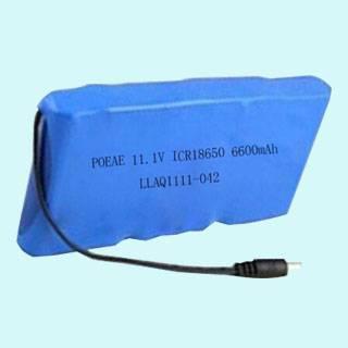 11.1v 6600mah ICR18650 Lithium-ion Battery