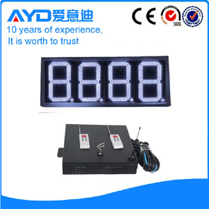 Waterproof 12 inch 7 segment led display gas station price sign
