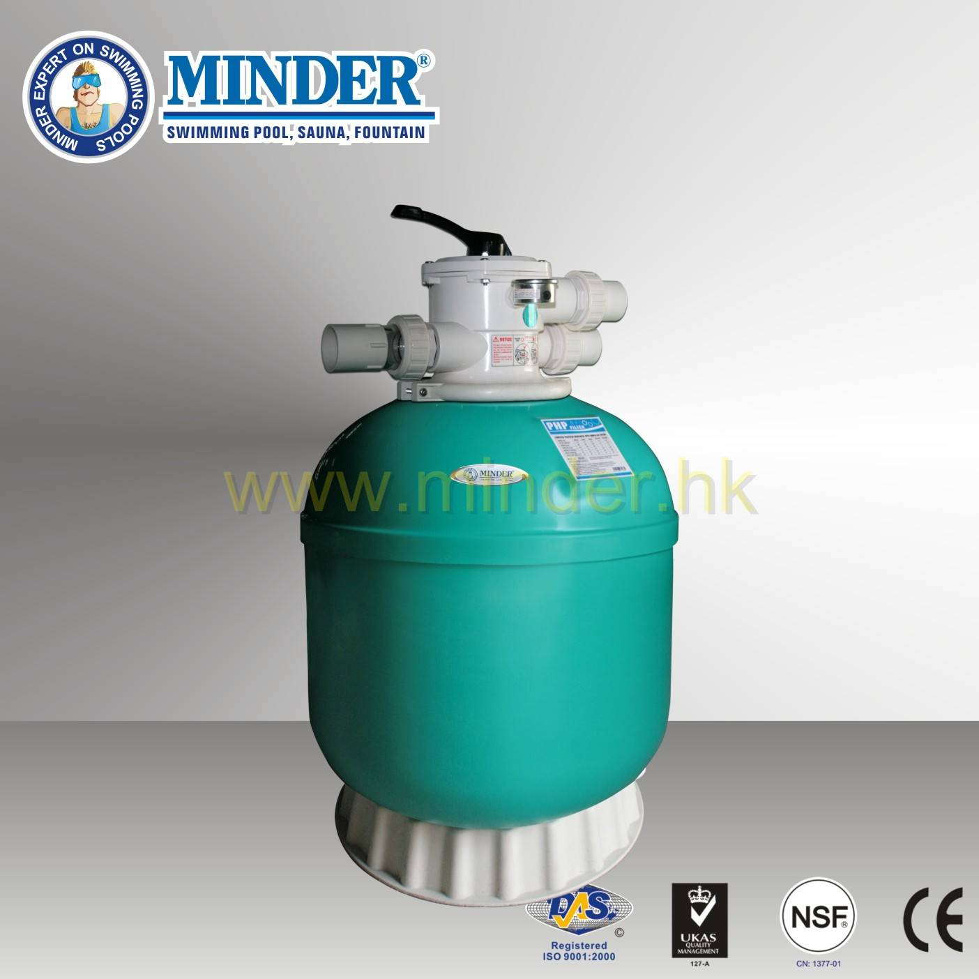 Firberglass 1.5 inch Valve Swimming Pool Sand Filter