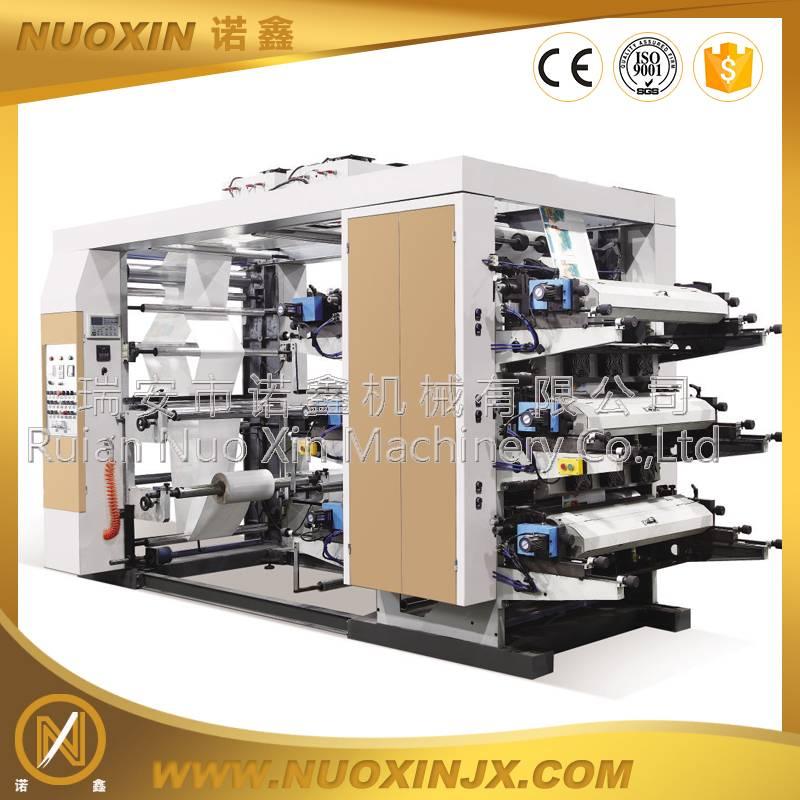 NX series 6 color plastic film flexographic printing machine