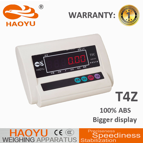 Stainless iron bench scale with weighing indicator