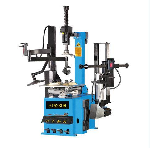 CE Tire changer fully automatic with double help arm