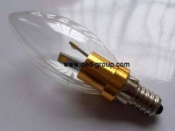 3W LED Candle lamp with glass cover