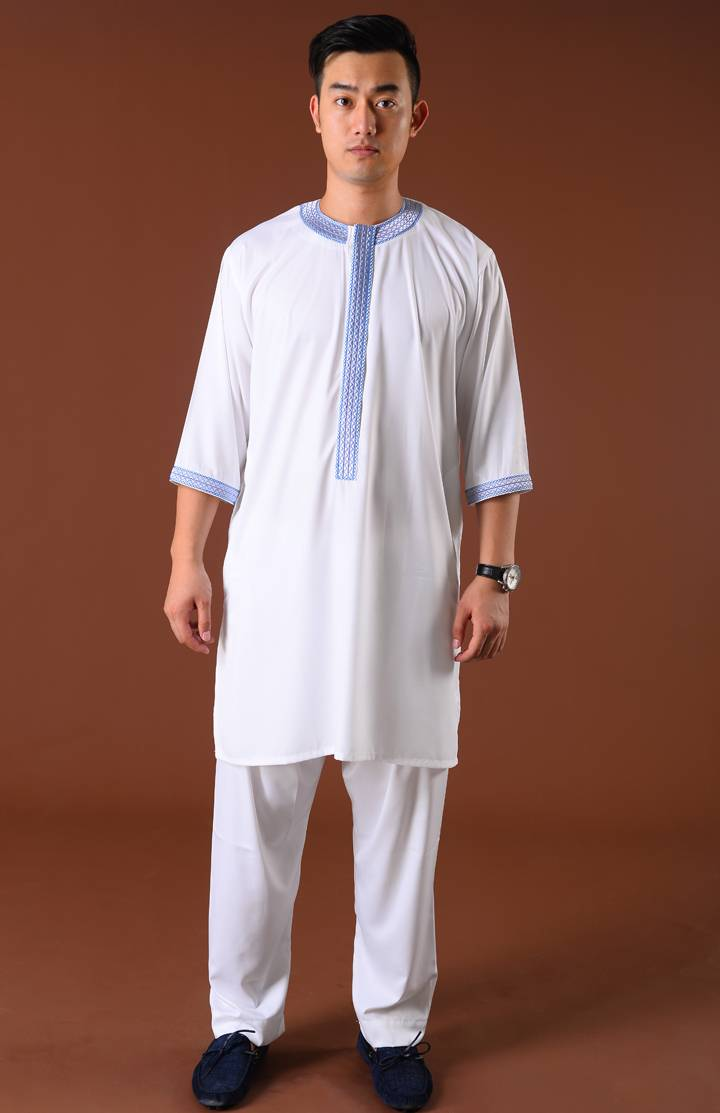 Moroccan Thobe and Pants for Men Half Sleeves