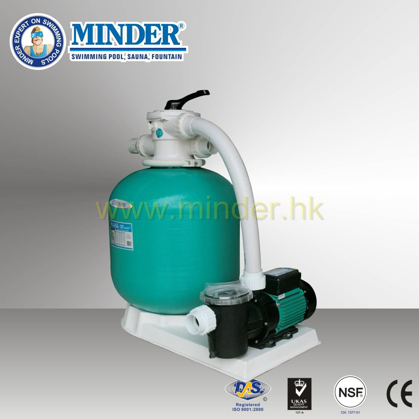 Firberglass 1.5 inch Valve Swimming Pool Sand Filter filteration system
