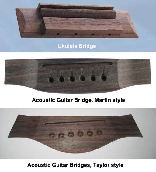 Acoustic and Classic Guitar Bridges