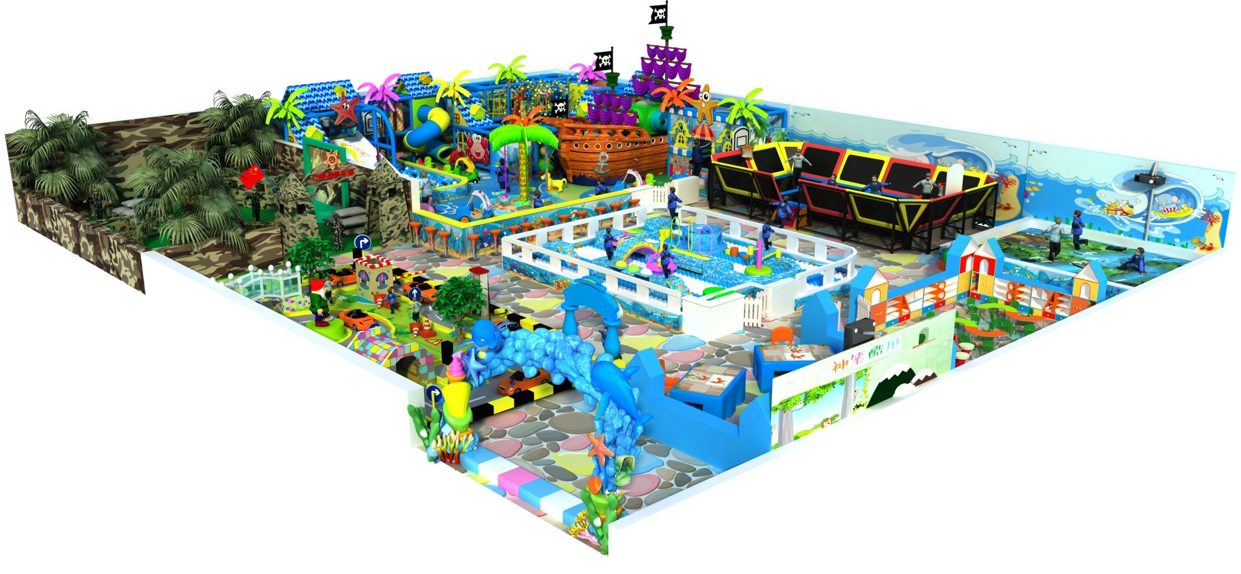 Customized Children Indoor Commercial Playground