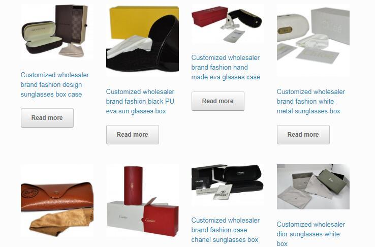 luxury brand sunglasses case box wholesaler OEM your own logo