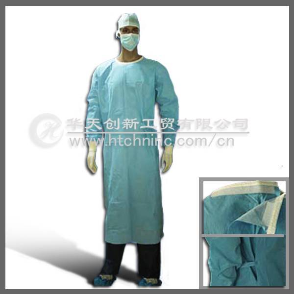 disposable pp nonwoven surgical gown