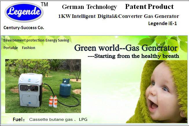 the latest patent 1kw gas generator