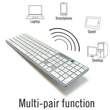 Full Size Bluetooth Mac Compatible Keyboard (WKB-801A)