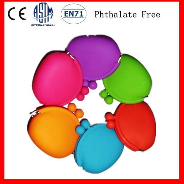 Latest Design Colorful Silicone Coin Purse