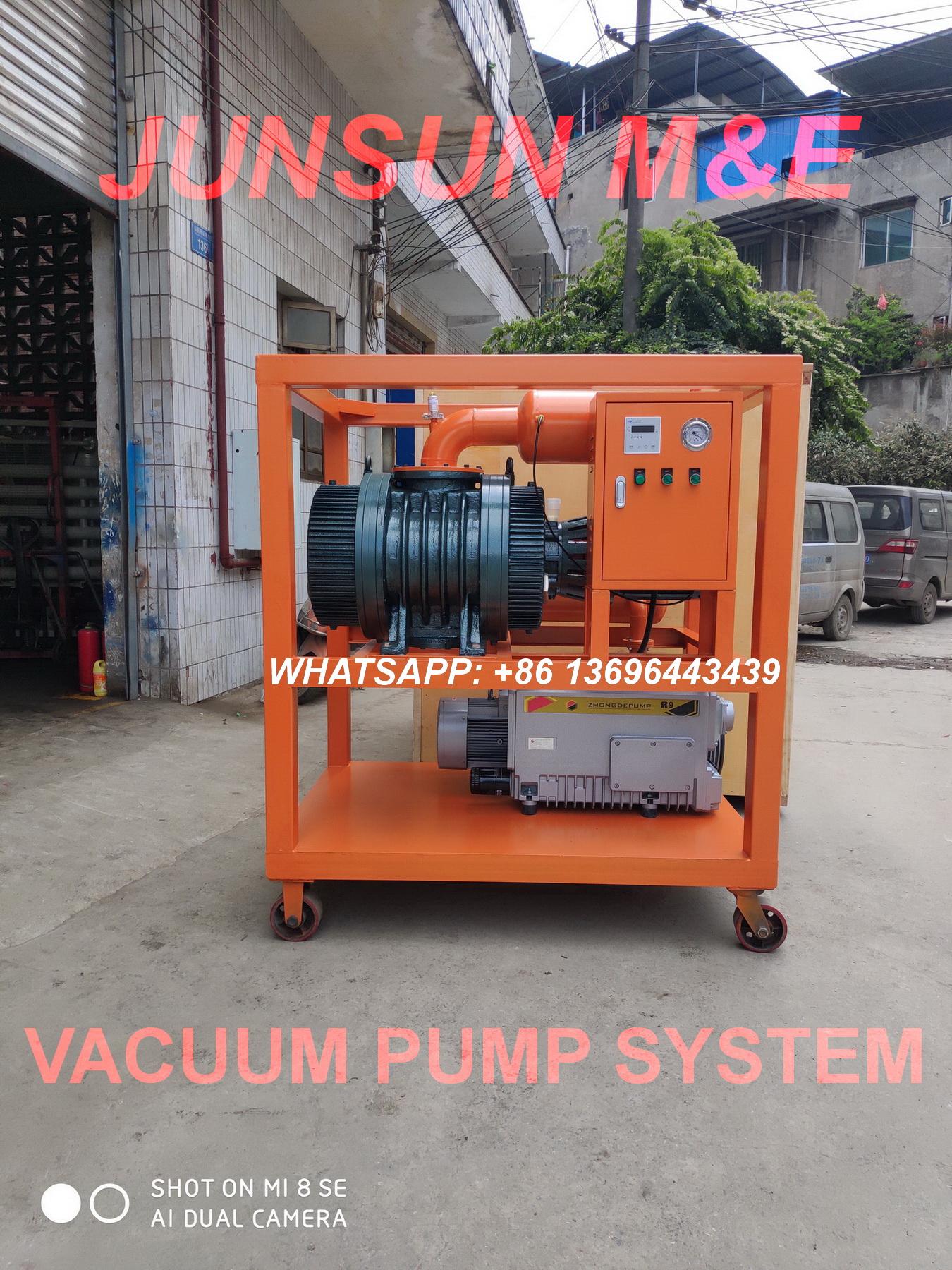 ZJP Series Vacuum Pump System, Vacuum Pumping Group, Two Stage High Vacuum Evacuation Equipment