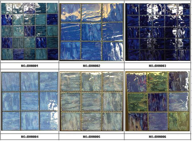 95x95mm crystallized glazed swimming pool tiles