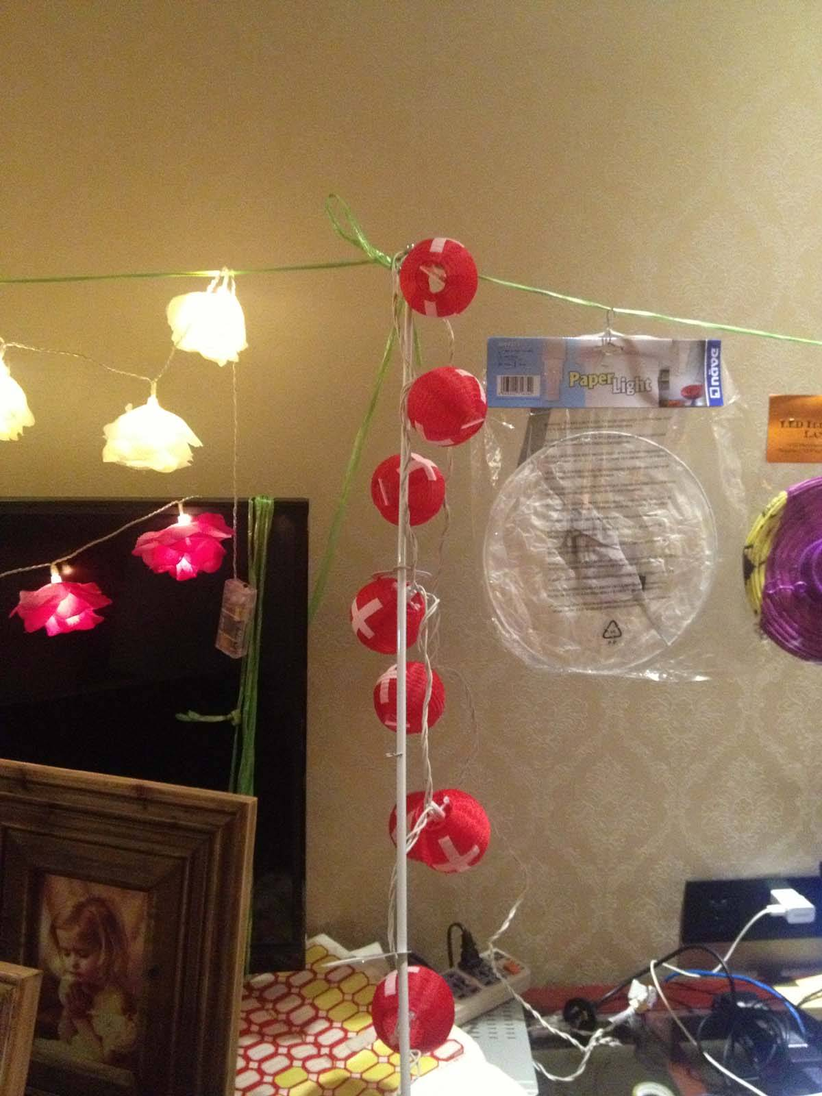 supply paper/fabric lanterns for christmas decoration
