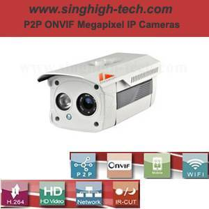 P2p Onvif 2.0MP 1080P Waterproof IR IP Camera (NS6372)