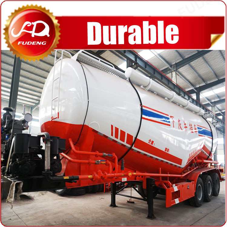 Fudeng 2017 high quality 3 axles 50000kg flour bulker trailer cement tank