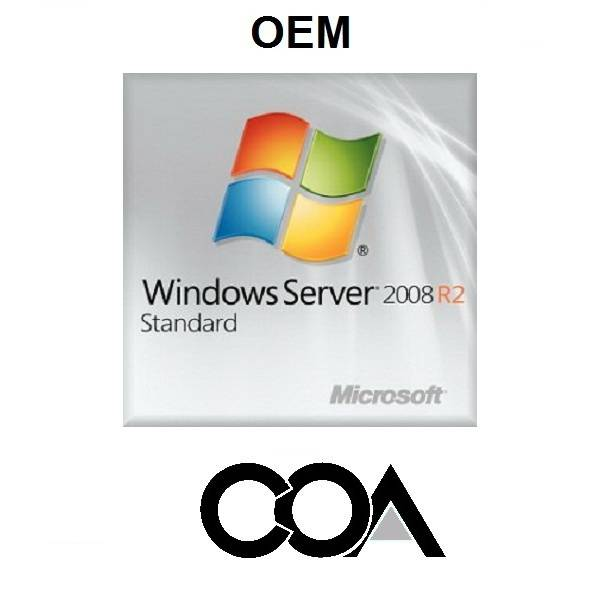 Microsoft Windows Server 2008 R2 Standard 1-5 Client OEM COA Sticker