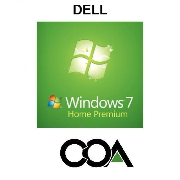 Microsoft Windows 7 Home Premium OA DELL COA Sticker
