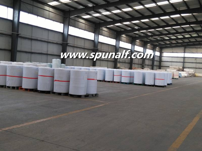 Jumbo roll Cross Lapping/Parallel laying spunlace nonwoven fabric for wet wipes