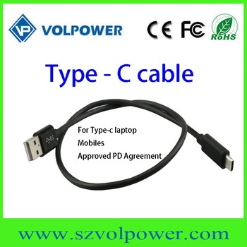 Whosale price micro usb data cable type-c cable for mobile for laptop 1M 2M approved PD argeement
