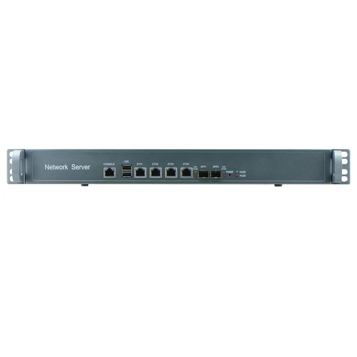 Intel Celeron C1037U 1U Firewall Barebone for Network Security Application with 4Nic, 2 SFP Option