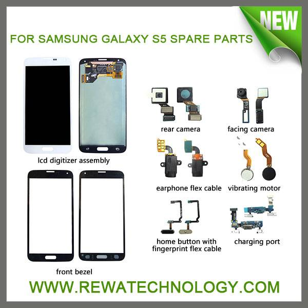 Sell Cell Phone Spare Parts for Samsungs Galaxy S1/S2/S3/S4/S5 Repair