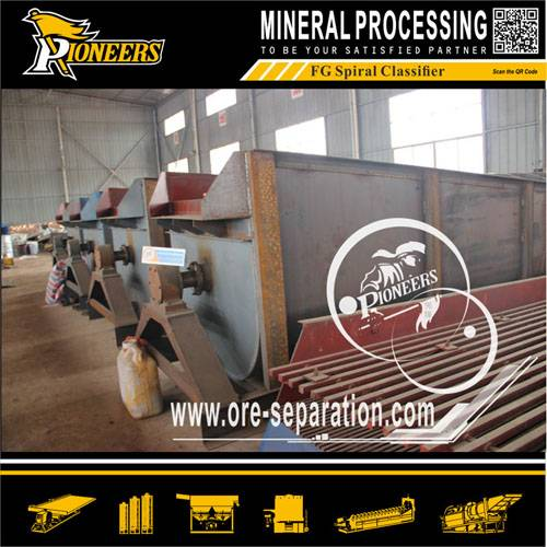 Mining ore mineral processing spiral classifier , mineral processing spiral classifier