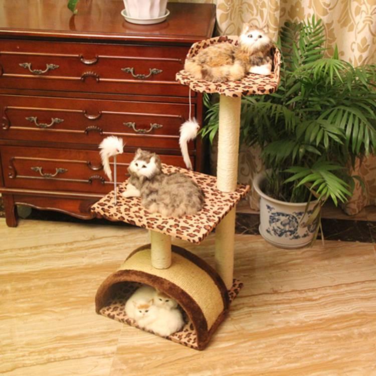 Funny Cat Tree House Condo