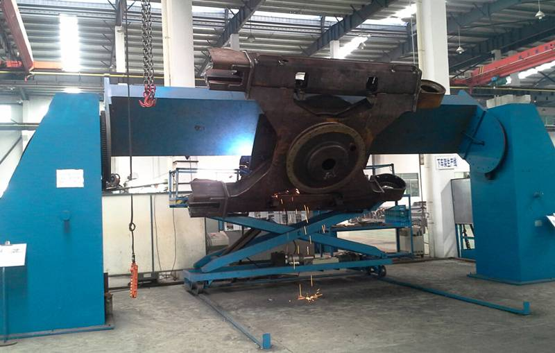 X Frame Head Tail Dual Rotary Hydraulic Welding Positioner