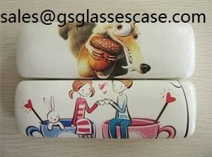 hot selling pu leather metal eyeglasses case for frame