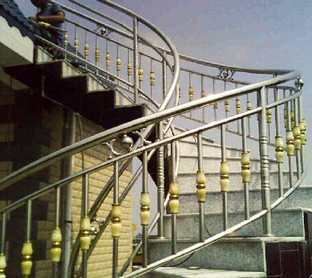 Stainless Steel stairs stair parts stairl rail stainless steel handrail ITEM NO:14062029