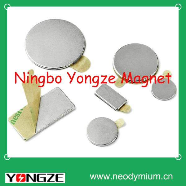 Neodymium self-adhesive magnets with different shapes